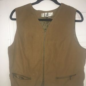 Karen Scott Suede Vest (vintage, nylon, polyester)